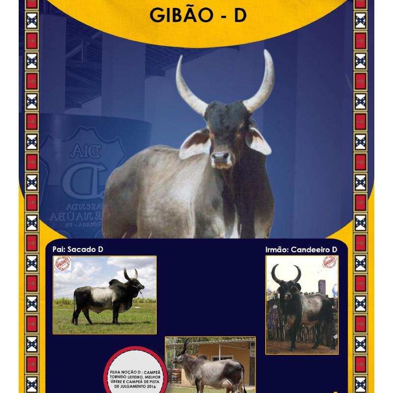 Dose de sêmen de touro da raça Guzerá - Gibão D