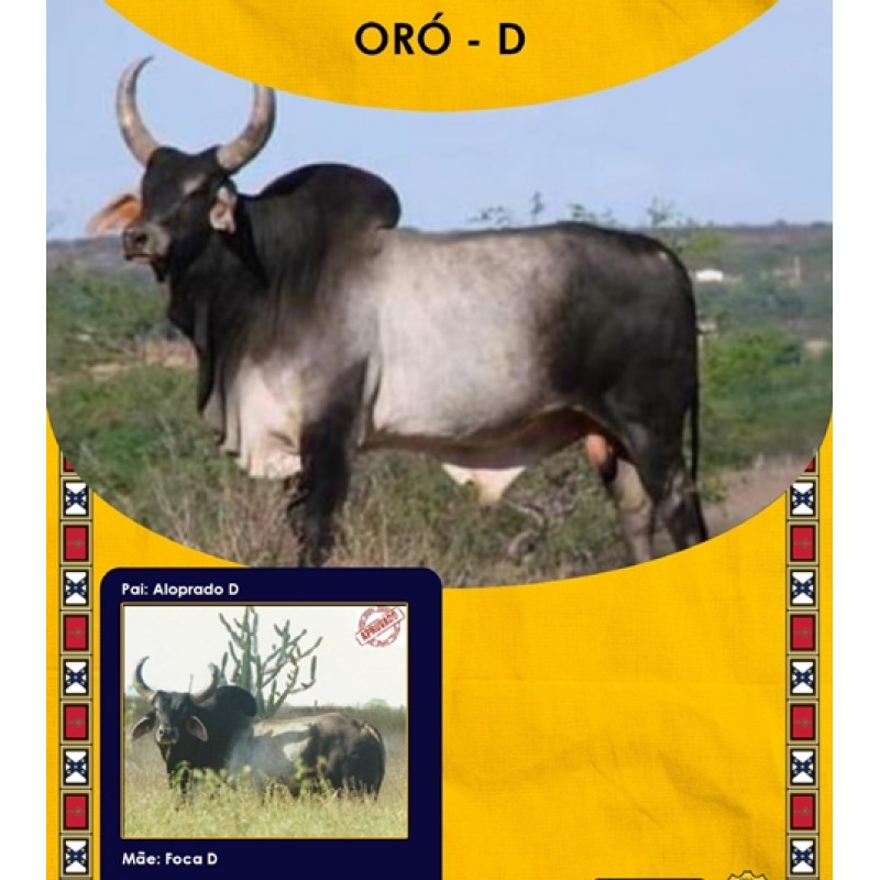 Dose de sêmen de touro da raça Guzerá - Oró D